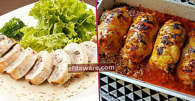 10 ricette per avvolgere il pollo che puoi riempire di carne di pollo con ingredienti diversi e firmare un menu pratico
