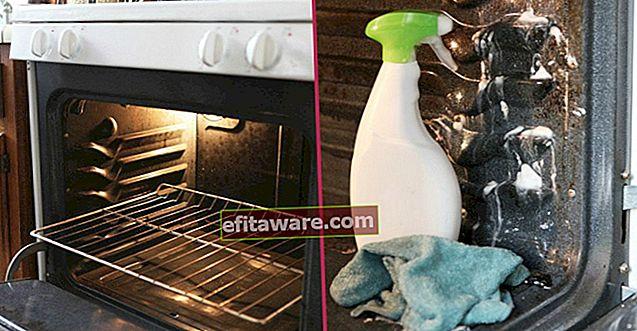 Il modo per pulire l'angolo del forno e l'angolo con 2 materiali trovati in quasi tutte le case