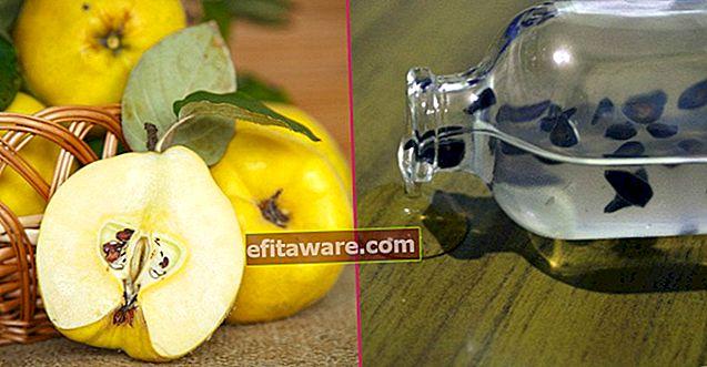 Ricetta naturale che allevia macchie e smagliature sulla pelle: gel di semi di mela cotogna