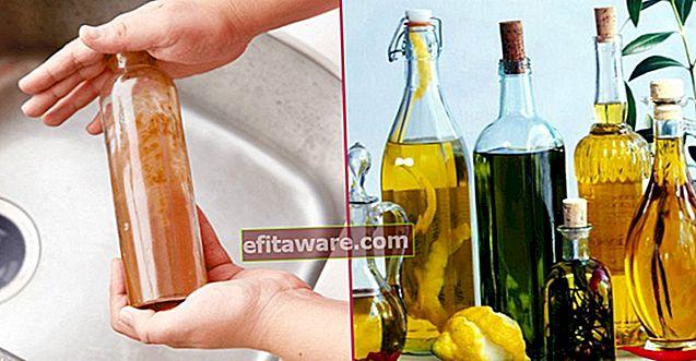 วิธีทำความสะอาดขวดน้ำมันทรงแคบอย่างง่ายดายด้วยวิธีง่ายๆเพียงไม่กี่วิธี?