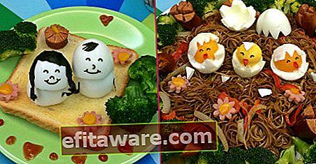 A forma di 14 piccoli piatti per nutrire i bambini con uova sode