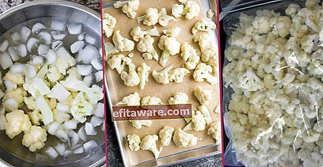 Tidak Pernah Gelap, Tetap Segar selama 1 Tahun: Bagaimana Menyimpan Bunga Kembang Kol di Freezer?