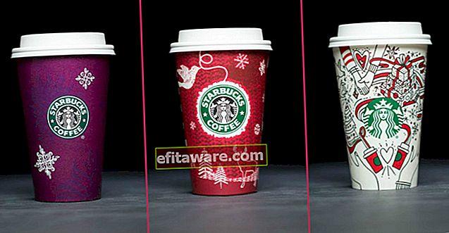 20 Jahre speziell entworfene Neujahrsbecher, die jedes Jahr von Starbucks hergestellt werden