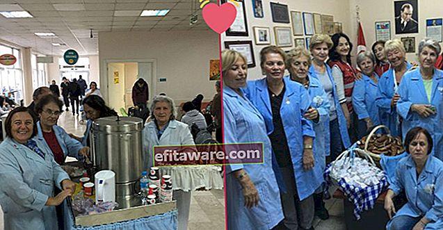 Blaue Engel verteilen kostenlosen Tee und Bagels an Krebspatienten im Okmeydanı-Krankenhaus