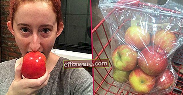 L'esperimento della curiosità: giovane donna che mangia una mela ogni giorno per 1 mese