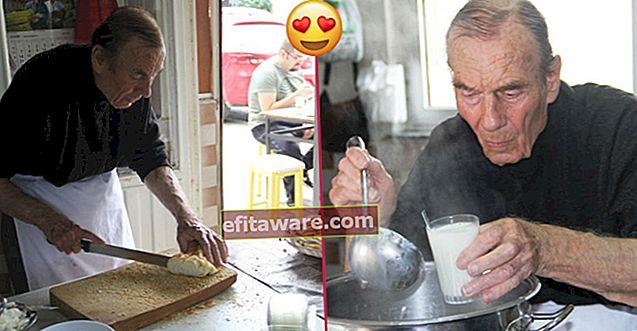 Onkel Eşref 87, der seit 70 Jahren im Frühstücksraum in Bergama wohnt