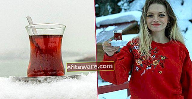 Diduga sebagai teh paling enak: menyeduh teh dengan air salji