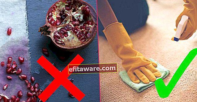 때가되면 누구나 알아야합니다 : 석류 얼룩을 제거하는 7 가지 방법